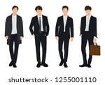 vector of young businessman ... | Shutterstock .eps vector #1255001110