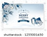 christmas background with... | Shutterstock .eps vector #1255001650