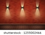 interior of red brick wall with ...   Shutterstock .eps vector #1255002466
