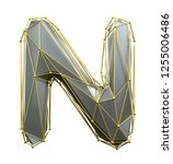 capital latin letter n in low... | Shutterstock . vector #1255006486