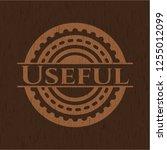 useful retro style wood emblem | Shutterstock .eps vector #1255012099