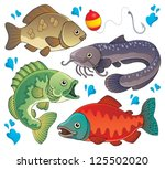 various freshwater fishes 2  ...   Shutterstock .eps vector #125502020