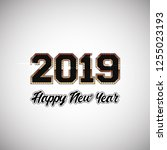 new year numbers   2019 | Shutterstock .eps vector #1255023193