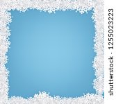 winter frame with snowflakes | Shutterstock .eps vector #1255023223