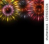 colorful fireworks background | Shutterstock .eps vector #1255023226