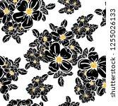 flower print. elegance seamless ... | Shutterstock . vector #1255026133