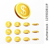 3d gold coins illustration....