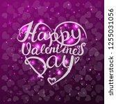 happy valentines day.... | Shutterstock .eps vector #1255031056