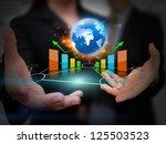 businessman holding business... | Shutterstock . vector #125503523