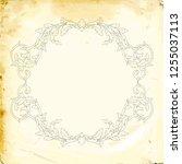 retro baroque decorations... | Shutterstock .eps vector #1255037113