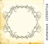 retro baroque decorations... | Shutterstock .eps vector #1255037116