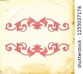 retro baroque decorations... | Shutterstock .eps vector #1255037176