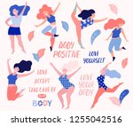 happy beautiful active plus... | Shutterstock .eps vector #1255042516