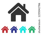 home icon vector. house | Shutterstock .eps vector #1255042786