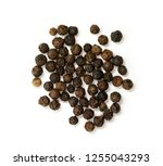 image of black pepper seeds on... | Shutterstock . vector #1255043293