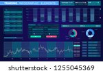 trading infographic elements | Shutterstock .eps vector #1255045369