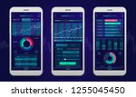 trading platform interface with ... | Shutterstock .eps vector #1255045450