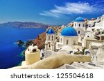 White Blue Santorini   View Of...