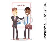 signing up contract.... | Shutterstock . vector #1255053646