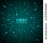 abstract circuit background.... | Shutterstock . vector #1255054060