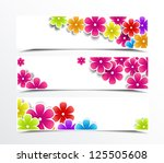 illustration of set of banner... | Shutterstock .eps vector #125505608