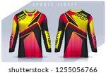 t shirt sport design template ...   Shutterstock .eps vector #1255056766