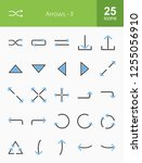 arrows filled icons | Shutterstock .eps vector #1255056910