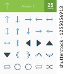 arrows filled icons | Shutterstock .eps vector #1255056913