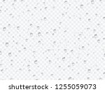 water rain drops or steam... | Shutterstock .eps vector #1255059073
