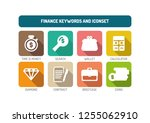 finance icon concept | Shutterstock .eps vector #1255062910
