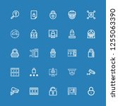 editable 25 private icons for... | Shutterstock .eps vector #1255063390