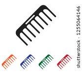 comb icon vector | Shutterstock .eps vector #1255064146