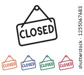 closed icon vector | Shutterstock .eps vector #1255067683