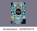 cover layout with tutan mask... | Shutterstock .eps vector #1255070173