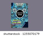 cover layout with tutan mask...   Shutterstock .eps vector #1255070179