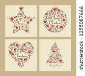 collection of christmas and new ... | Shutterstock .eps vector #1255087666