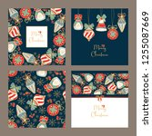 collection of christmas and new ... | Shutterstock .eps vector #1255087669