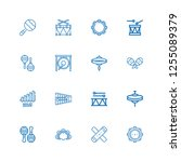 editable 16 percussion icons... | Shutterstock .eps vector #1255089379