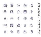 editable 25 maker icons for web ... | Shutterstock .eps vector #1255089469