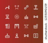 editable 16 lifting icons for... | Shutterstock .eps vector #1255090159