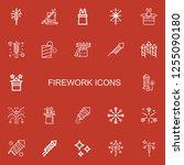 editable 22 firework icons for... | Shutterstock .eps vector #1255090180