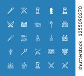 editable 25 knight icons for... | Shutterstock .eps vector #1255090270