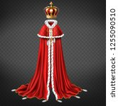 royal garment 3d realistic... | Shutterstock .eps vector #1255090510