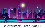 modern metropolis  resort city... | Shutterstock .eps vector #1255090513