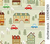 colorful christmas city... | Shutterstock . vector #125509250