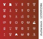 editable 36 honor icons for web ... | Shutterstock .eps vector #1255092586