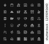 editable 36 new icons for web... | Shutterstock .eps vector #1255092640