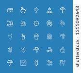 editable 25 umbrella icons for...   Shutterstock .eps vector #1255092643