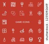 editable 22 game icons for web... | Shutterstock .eps vector #1255092649