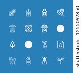 editable 16 conservation icons... | Shutterstock .eps vector #1255092850
